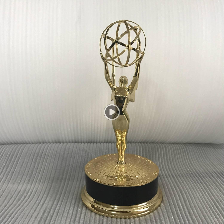 Gerçek Hayat Boyut 39cm 1: 1 Metal Tropy Bir Gün Teslim Joe: Merit 1 1 Emmy Tropy Akademi ards
