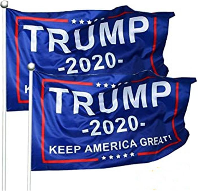 8 цветов Декор Баннер Trump Флаг Висячие 90 * 150см Trump Keep American Great знамен 3 * 5ft Digit печати Donald Trump 2020 Выборы FY6061
