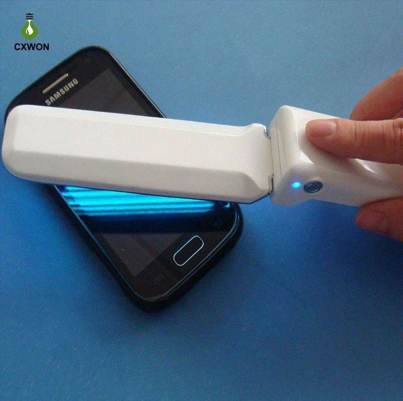 Handheld Lâmpada Ultravioleta Floding portátil UVC LED Esterilizador USB Battery Power Handheld Telefone Escova Esterilizador germicida lâmpadas uzhO #