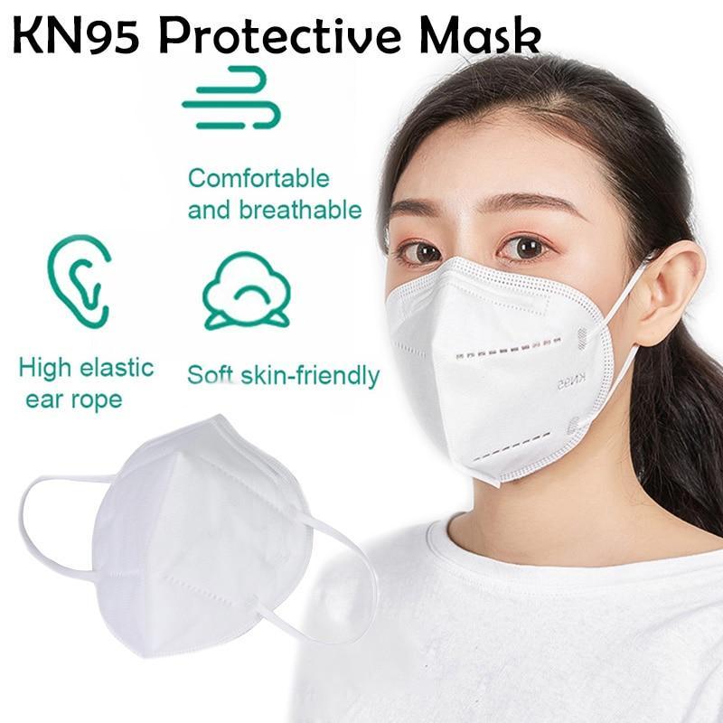Máscaras PM2.5 Segurança KN95 Máscaras Homens Mulheres descartável cara kn95 face MaskFree transporte 3-7 dias para US 95% Máscara PM2.5 Filtration N95
