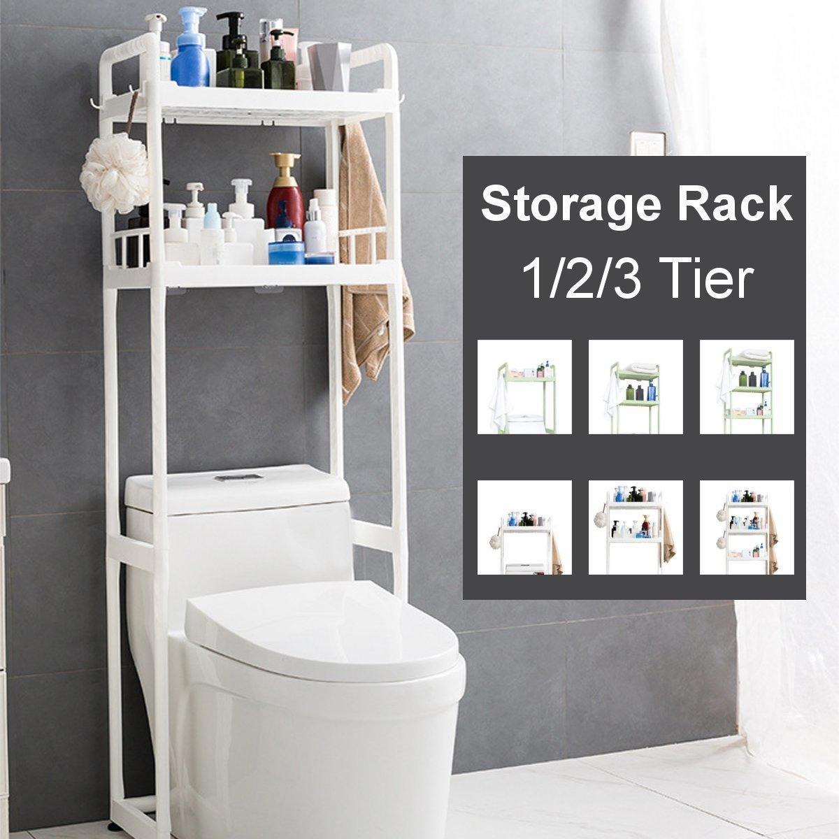 1/2/3 Tier Bathroom Storage Floor Stand Shelf Non-slip Floor Toilet Washbasin Washing Machine Toilet Storage Rack Kitchen Shelf Y200429