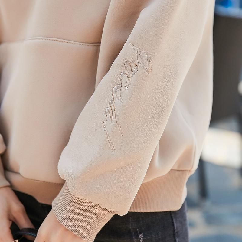 2020 новый длинный рукав женщин Корейский стиль свободный флис Ленивый стиля супер горячей свитер женщин свитер шерсть шерсть шерсть в утолщенной модную ого-го