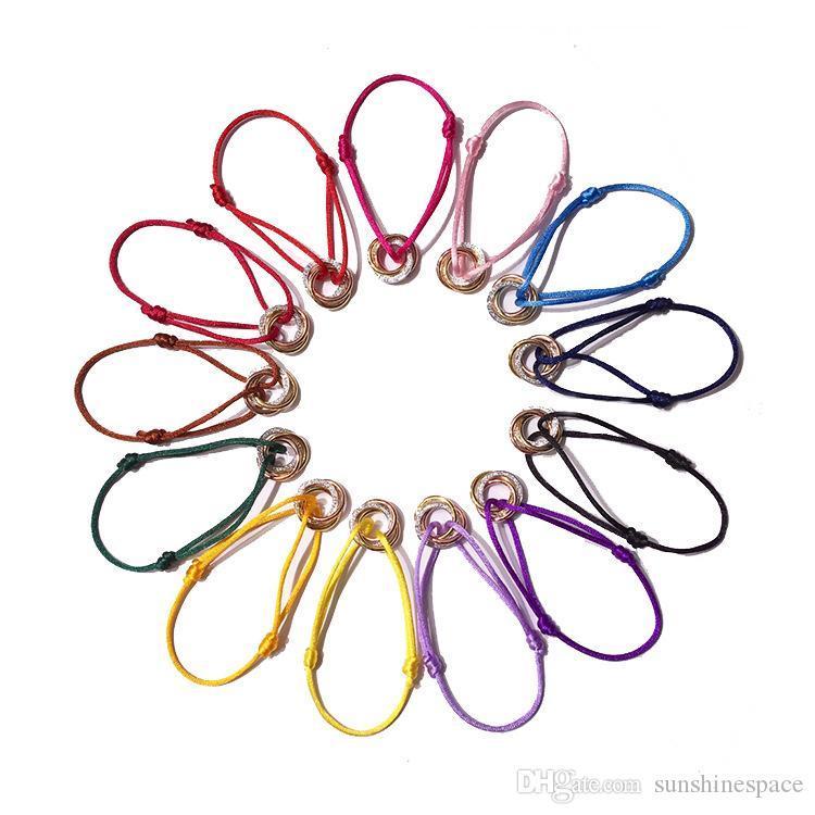 El amor del acero inoxidable 316L con la piedra tricíclicos Carter braceletsbangles pulseras de cuerda hecha a mano por las mujeres del diseño de marca