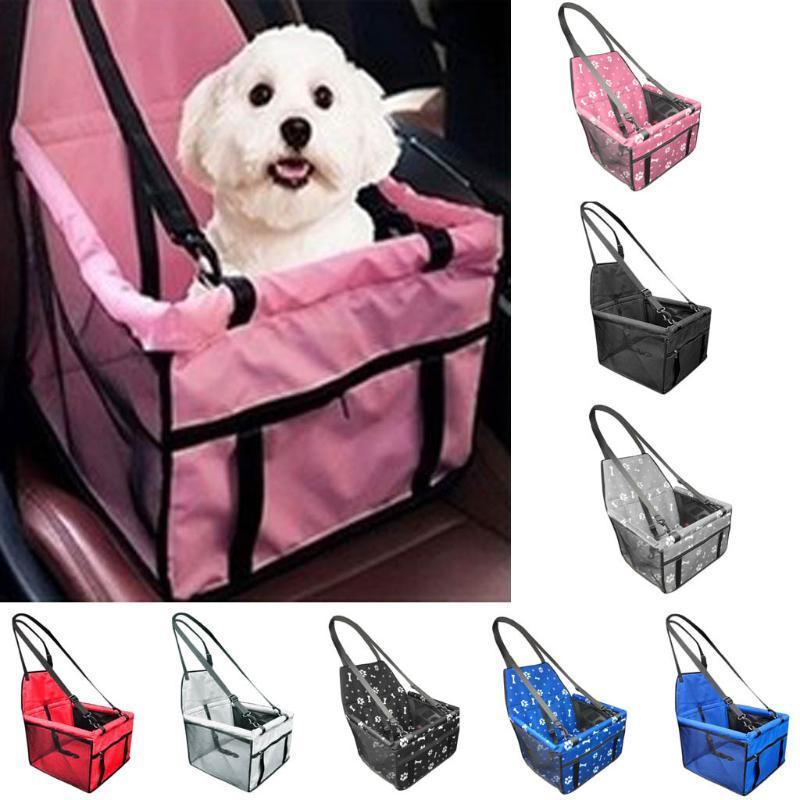 Travel Dog Car Carrier Seat Cover Folding Hammock Pet Carriers Bag Carrying For Dogs Cats Transportin Pet Basket Waterproof#Y20