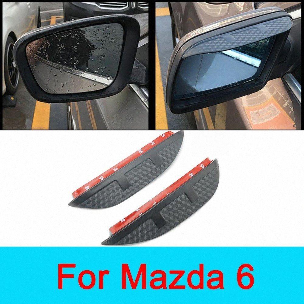 Автомобильные аксессуары зеркало заднего вида против дождя щит для Mazda 6 2006 20072008 2009 2010 2011 Чистый Знак безопасного вождения qkaK #