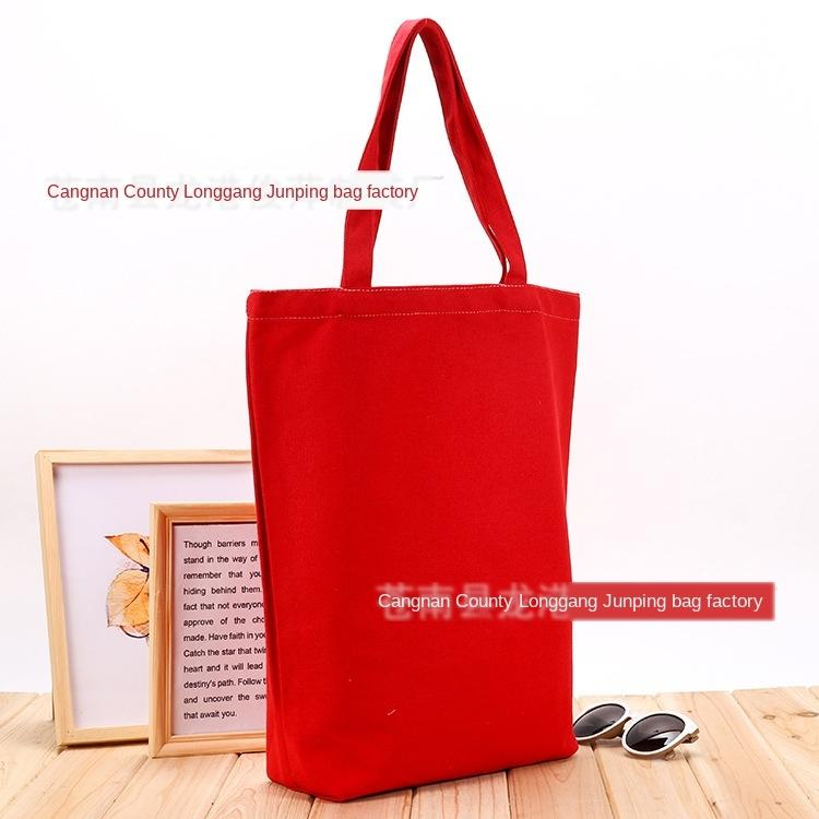 Yaratıcı Öğrenci pamuk taşınabilir pamuk serigraf Tuval alışveriş çantası reklam alışveriş torbasını tuvaline