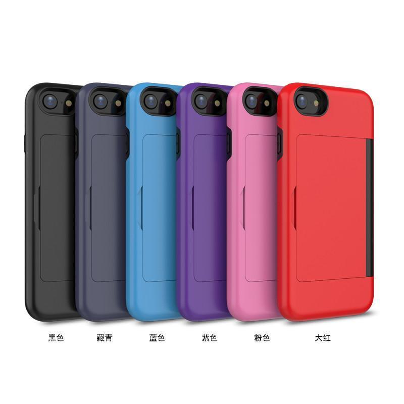 cgjxs Smartphone 3 en 1 Titulaire téléphone portable carte pour iPhone Xs Max Xr Pour Iphone 7 8 Plus A