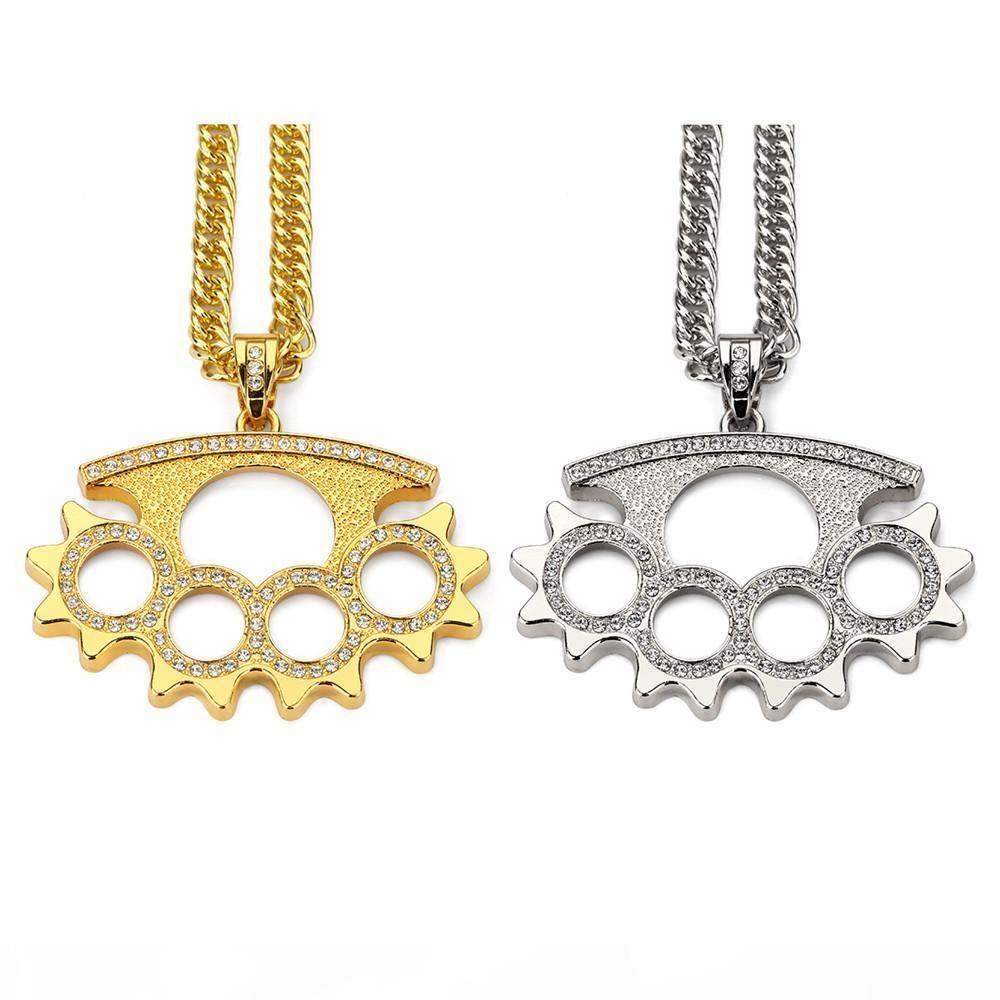 Европа и Соединенные Штаты Trendy Hip Hop ожерелье Rap Street Dancer ожерелье ювелирных изделий Толстые золочение Обеспечение качества шерсти Подвеска