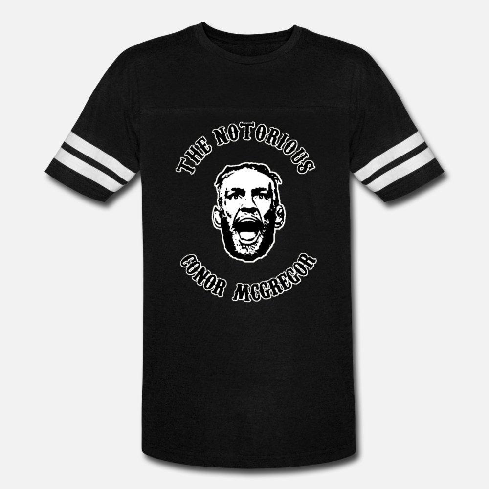 Макгрегор The Notorious T Shirt Men Сыпучие Tee Shirt Плюс размер 3XL Новизна Незакрепленной Юмор Летнего отдыха