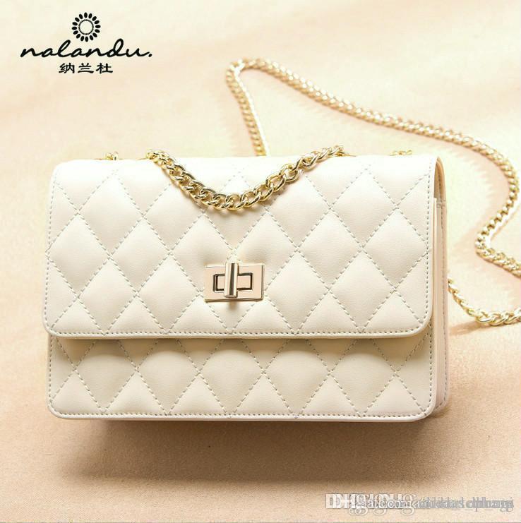 A6 NALANDU США EUR Мода Geniune цепи кожи сумка palid Vintage сумки Женские сумки Классический C сумки кошельки для женщин плеча сумку