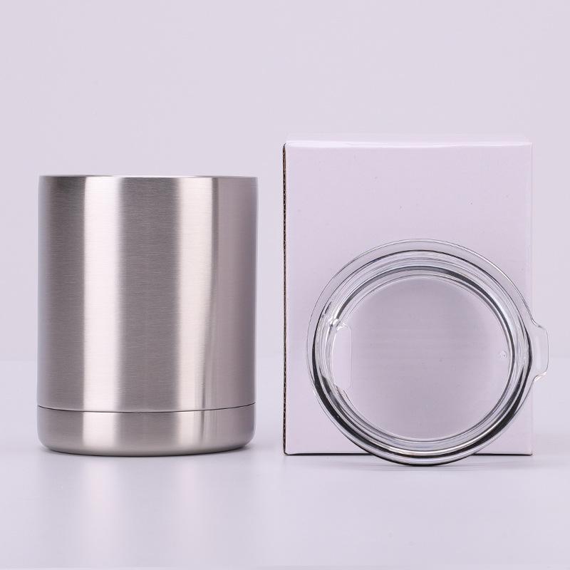 Logo sur mesure Soif 10 oz isolation à double paroi en acier inoxydable à isolation sous vide Tasse de café Tasse Voyage avec couvercle