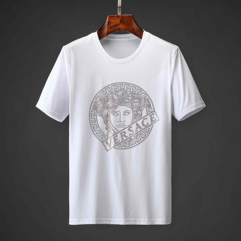 Moda hombre T-shirt camiseta del verano hombre de alta calidad estilista camiseta de Hip Hop Hombres Mujeres Negro manga corta camisetas tamaño M-3XL H2