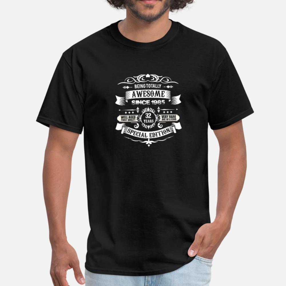 Tamamen tişört Euro Boyutu yazdırma 1985 32 Doğum t gömlek erkekler Müthiş S-3XL yana Kawaii Sunlight Yeni Stil Bahar Doğal gömlek