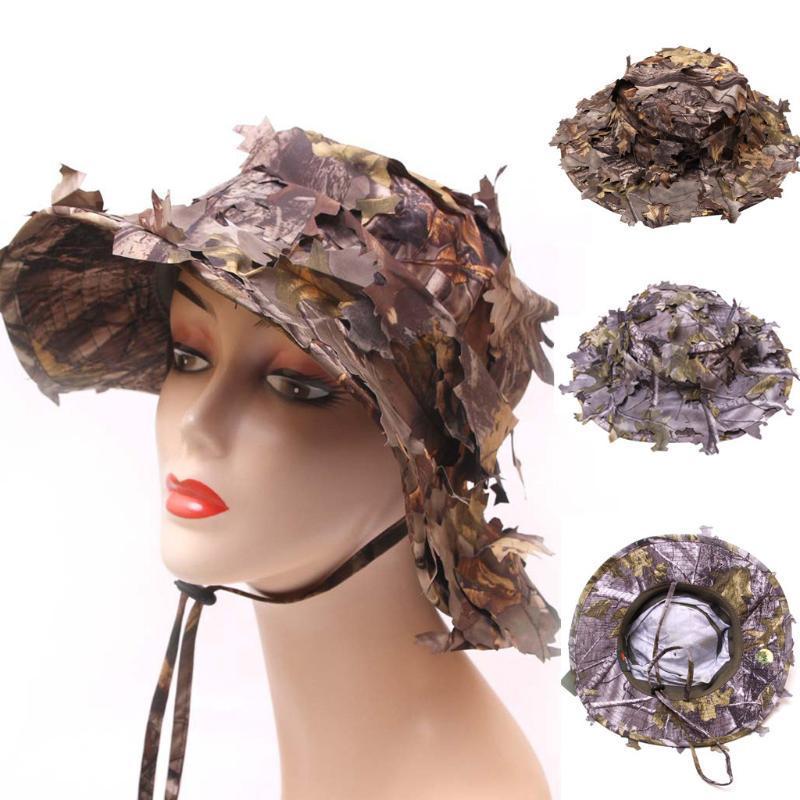 Мужчины Женщины летних шляпы для женщин Cap Leaf Bionics Камуфляж Охоты Поклонников Hat Cowboy Открытых мод Hat с шнурком gorras