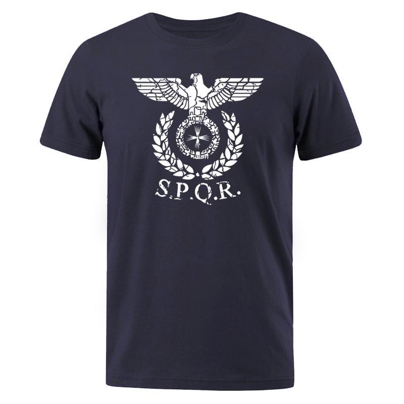 Hombres camiseta SPQR gladiador romano Imperial Golden Eagle 2019 camisa para hombre de la camiseta del verano ocasional del cortocircuito del O-Cuello camisetas Harajuku tes de las tapas