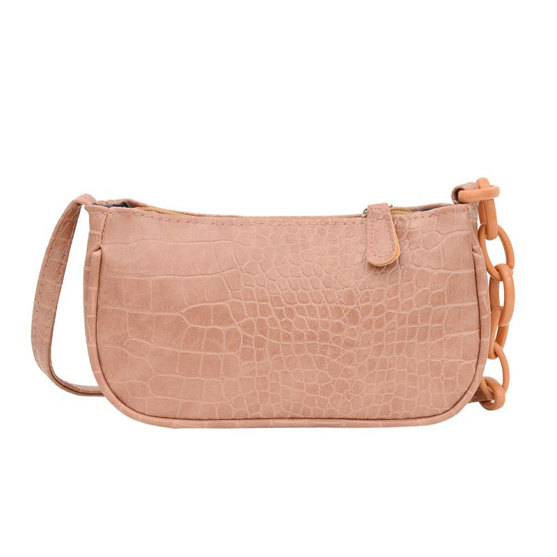 Omuz Çanta Timsah Desen Baget kese Retro Kadınlar Fermuar Casual PU Bolsa Sac Sokak Mujer Tasarımcı çanta Omuz