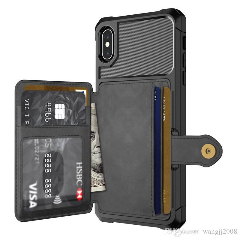 حالة الهاتف المحمول مع الجلد لiPhone11 برو 7 فون XS XR ماكس 8 بالإضافة إلى الهاتف قذيفة