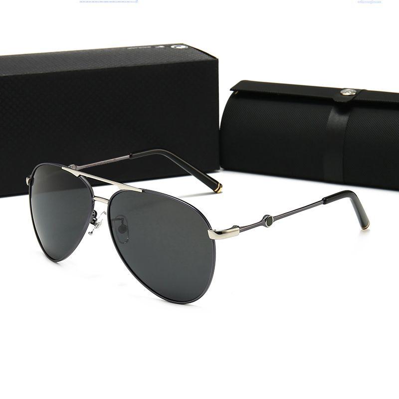 MONTBLANC 522 Mens Justin Sonnenbrille polarisierte Sonnenbrillen Mode Sonnenbrillen Frau Eyeware Des Lunettes de Soleil Driving Lenses