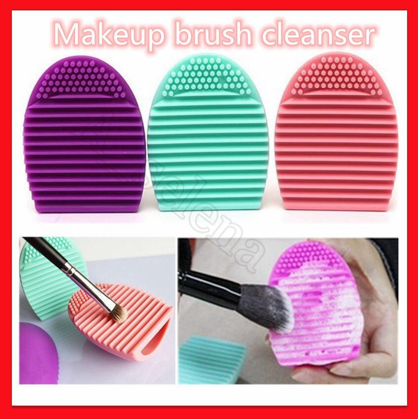 Силиконовый макияж кисти чистящие чистящие кисточки яйцо косметическая щетка очистка strucegg чистящая перчатка макияж чистящий инструмент
