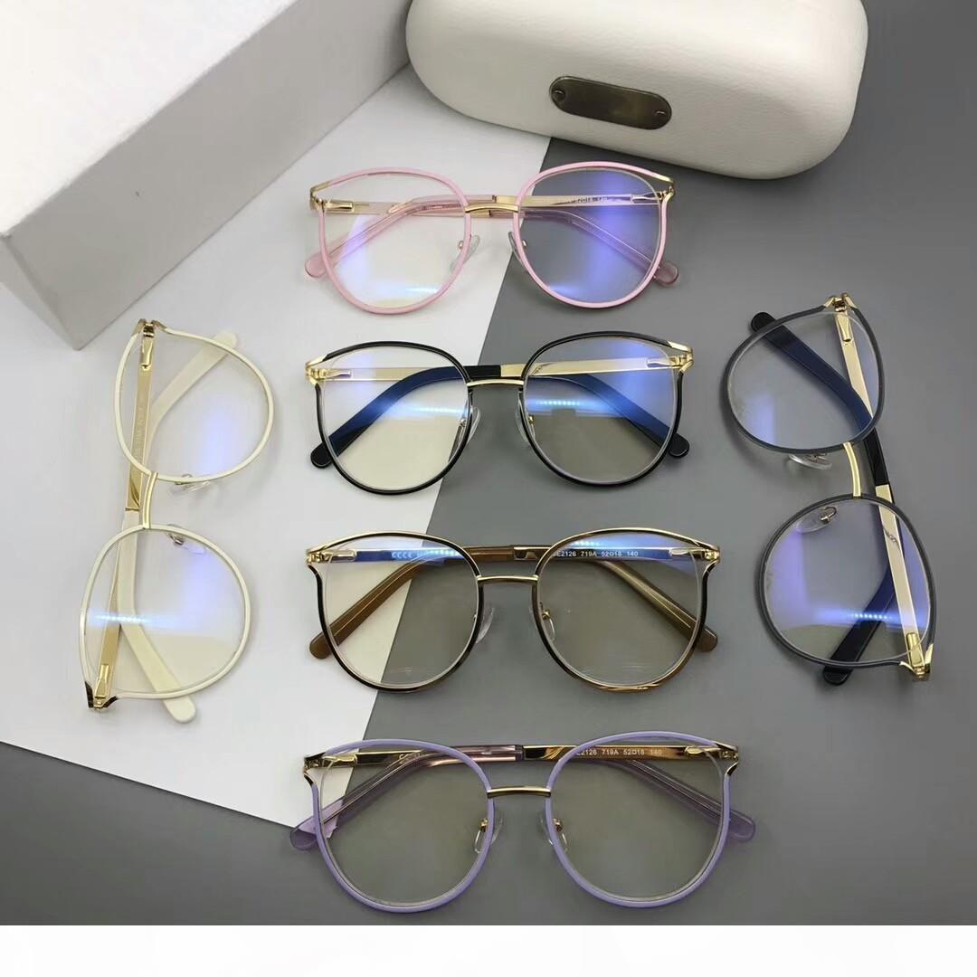 occhiali occhiali da vista cornice di lusso CE2126 occhiali degli occhiali per gli uomini donne miopia di marca Occhiali da Vista Lenti incolori con il caso