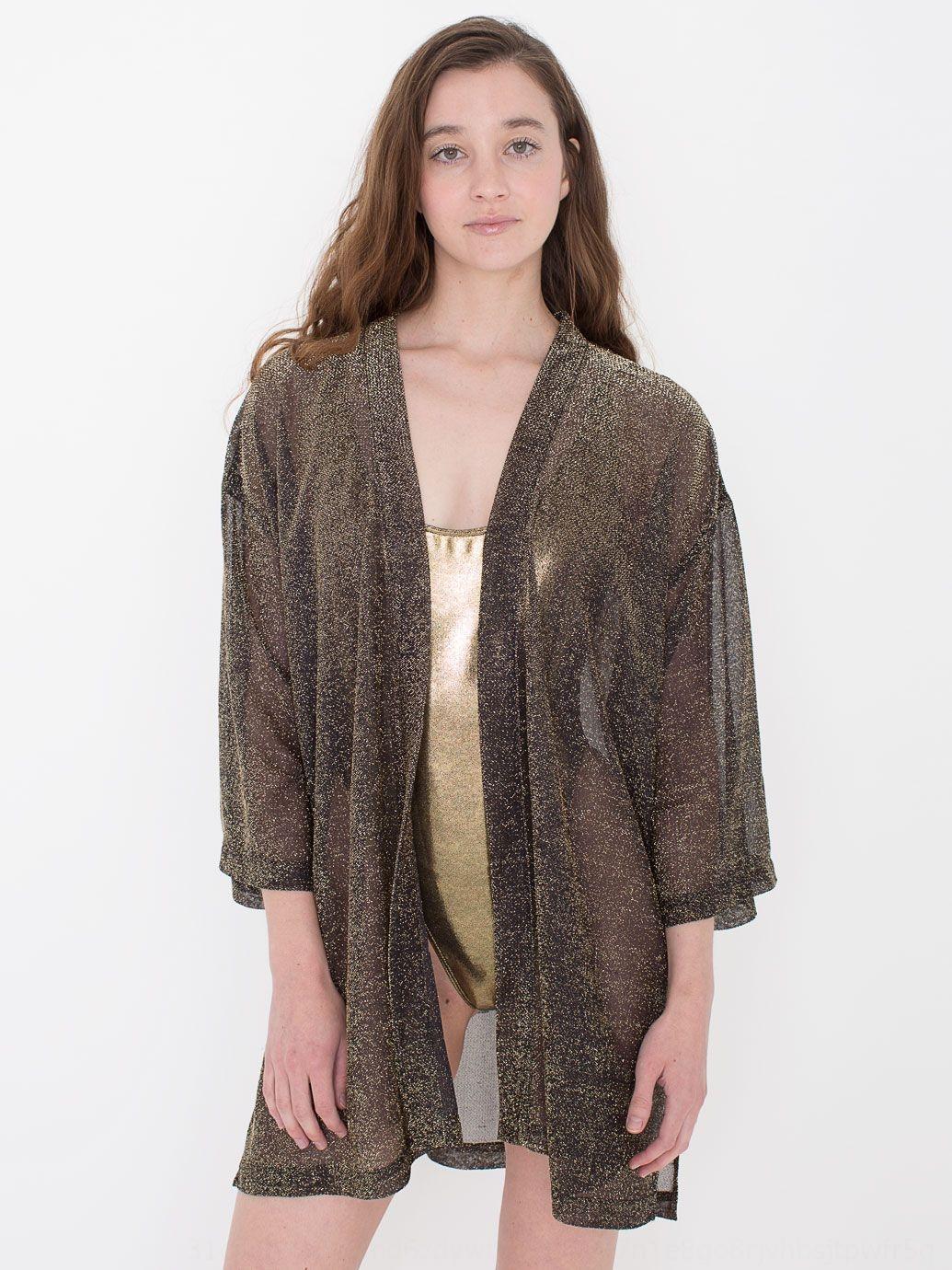 zblGw ropa chaqueta de punto # 7120 2019 nueva primavera de oro de cebolla chaqueta de punto de la manga kimono kimono protector solar media de las mujeres