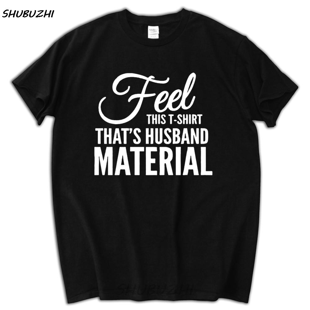 Cadeaux drôles d'anniversaire pour les hommes Mari shirt Feel This T-shirts époux Matériel cadeau I Love It When My Wife