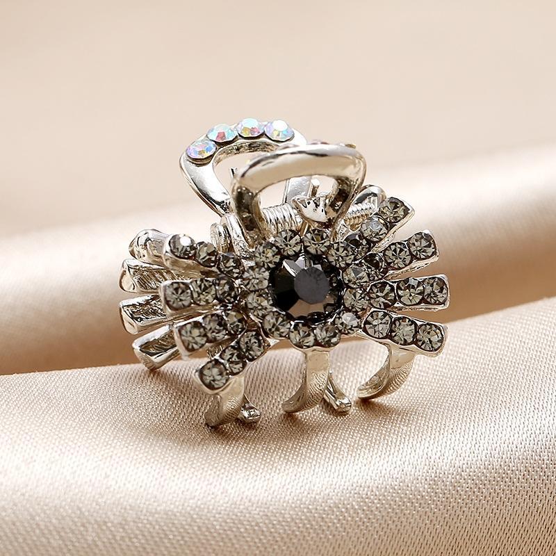 YiAPV pequeño de estilo con diamantes incrustados tocado de las mujeres coreanas horquilla versátil primavera joyería del tocado de la horquilla de aleación sencilla sombreros c HOeag