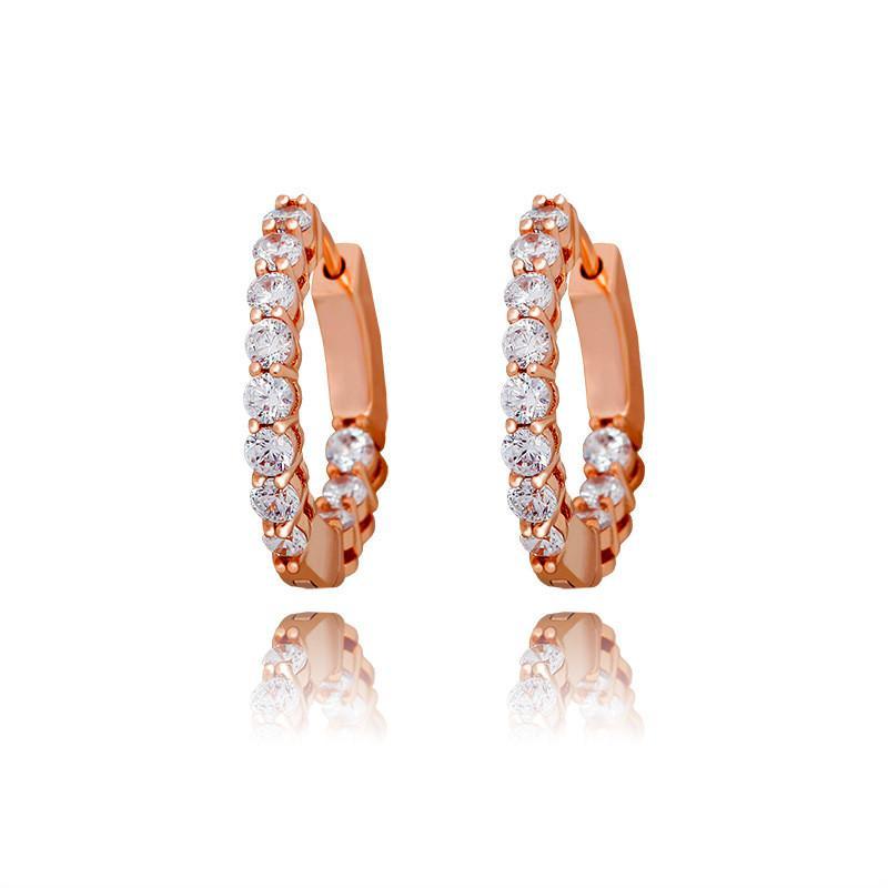 Позолоченные CZ Алмазный камень серьги Hotsale Bling CZ обручи серьги для мужчин женщин хороший подарок для друзей