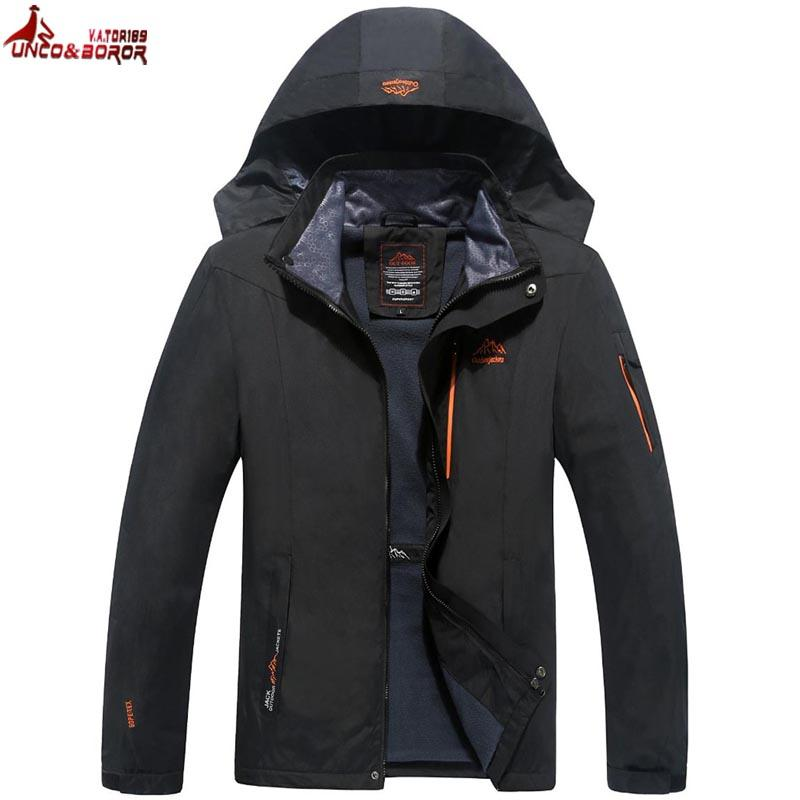 Плюс размер 6XL 7XL 8XL `s людей Водонепроницаемая куртка весна осень ветрозащитный дождя пальто Outwear Горный туризм куртка Мужская одежда