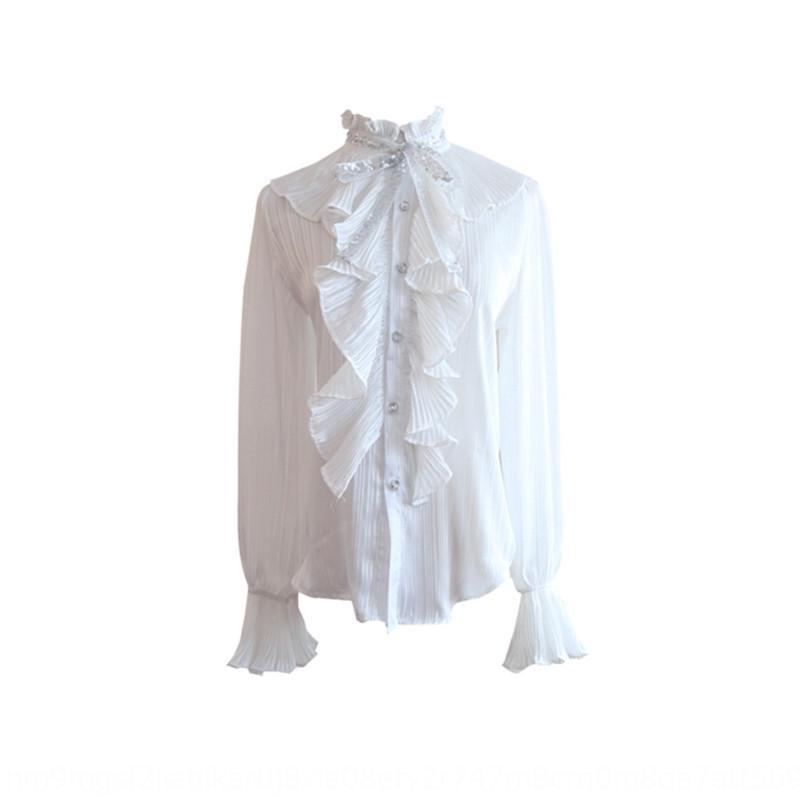 2020 autunno e inverno nuovo socialite camicia a pelo corto cappotto di tweed eleganti delle donne graziose tailleur due pezzi HyYSl