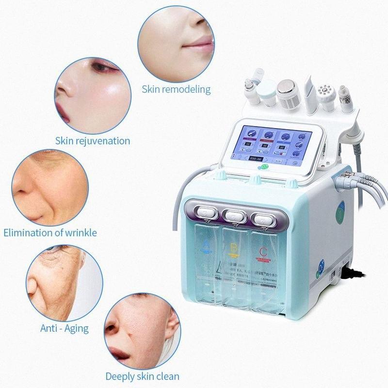 New Upgrade Version 6 In 1 H2 O2 Hydrafacial Dermabrasion Hydro Water Microdermabrasion Aqua Peeling RF Skin Scrubber Oxygen Spray jibl#
