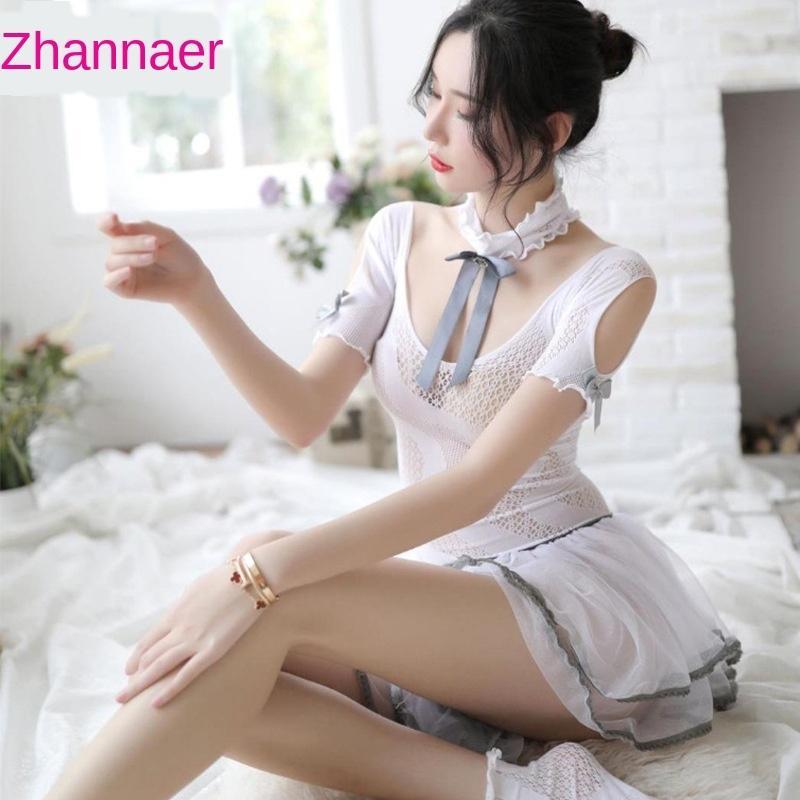 Menaier sexy Unterwäsche neue Kleid Unterwäsche-Prinzessinkleid Schulter Netz maid Spitze nette Mädchenuniform Prinzessin Pengpeng Rocks