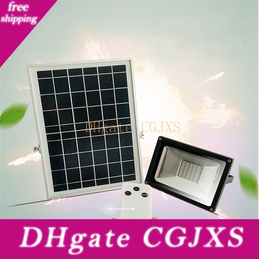 5pcs 10W 20W 30W 50W solaire Projecteur LED Cool White télécommande Garden Street Flood Lampe