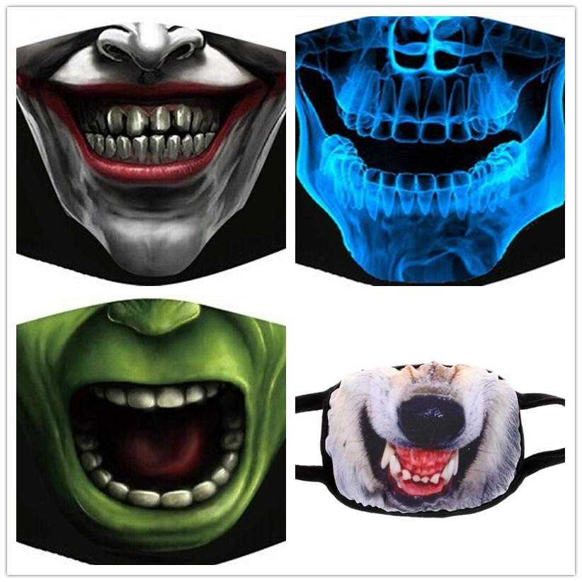 Anti dust Reusable New Products Non Mainstream Pure Cotton Dustproof Mouth Cover Male Female Creative Expression Personality Masks DLH460