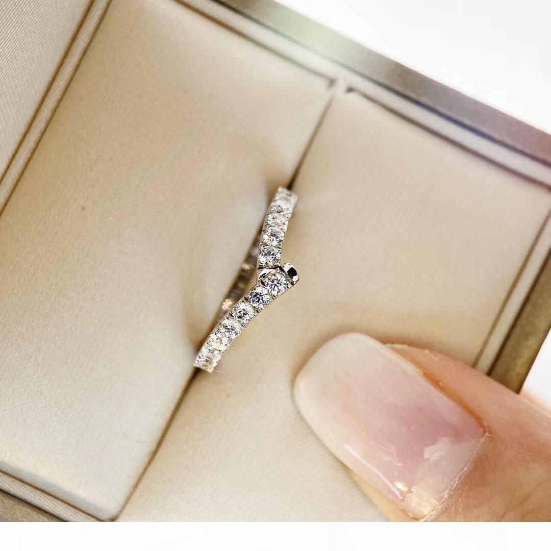 anel de banda de fita qualidade de luxo com todo o dia de Natal presente da jóia PS6407 transporte livre sparky charme anel de diamante jóias
