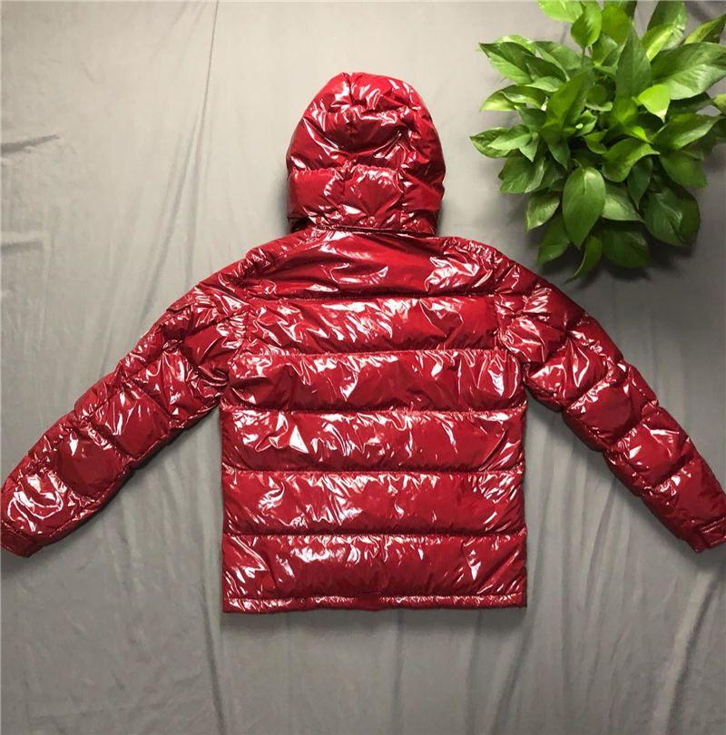 남성 디자이너 코트 후드 가을 겨울 윈드 코트 아래로 두꺼운 고급 까마귀 착실히 보내다 발광 재킷 아시아 크기 남성 의류