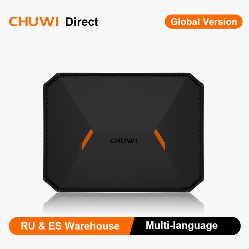 Chuwi HeroBox Intel N4100 Quad Core Mini PC 8GB de RAM 180GB SSD Windows 10 do computador de secretária com o suporte VESA HD VGA 2.4G / 5G Wifi