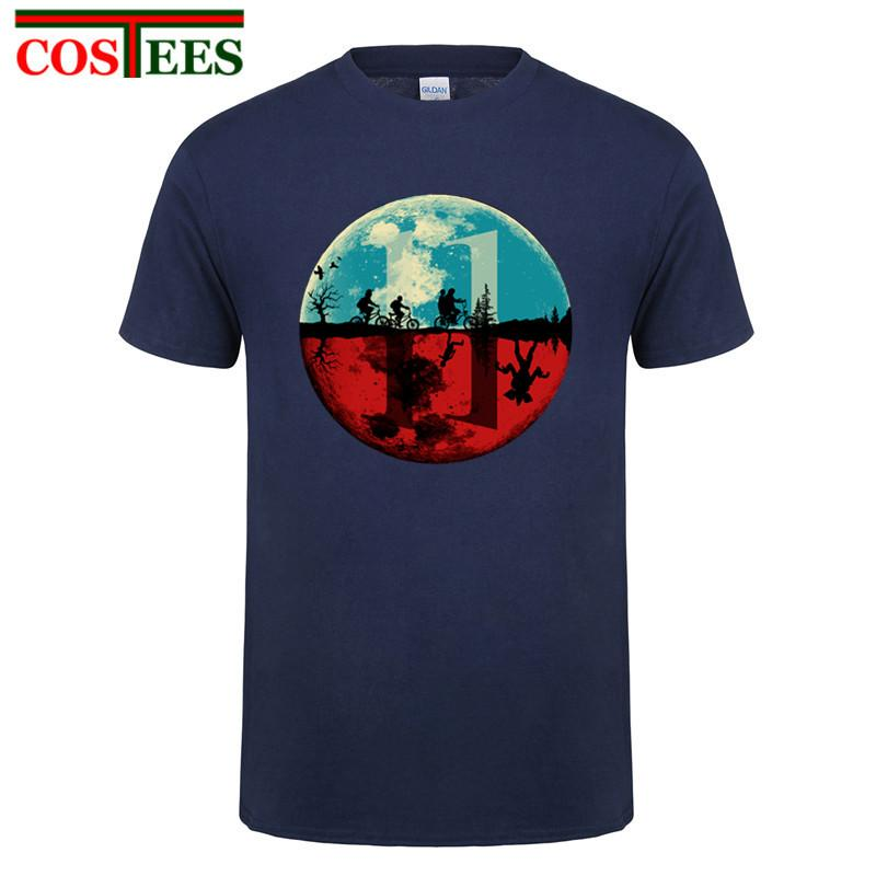 La nueva llegada 3D mujeres de la camiseta de los hombres Camisetas extraño cosas Diseño camiseta homme Al revés camiseta de manga corta T-Tops masculina
