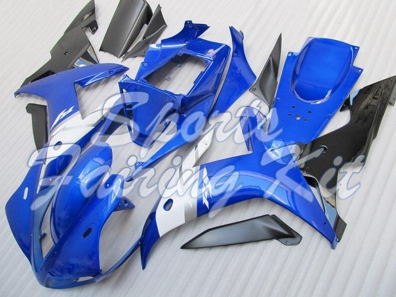 Plastic Fairings for YZFR1 2002 - 2003 Blue White Abs Fairing YZFR1 2002 Bodywork for YAMAHA YZFR1 02