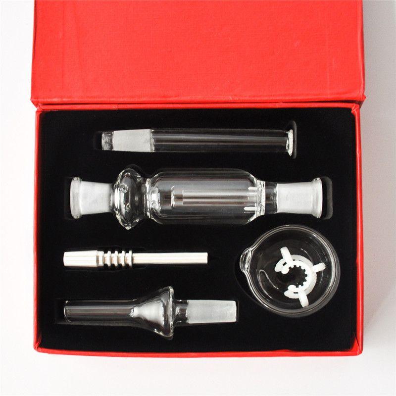 Más baratos kits de 10 mm Micro paja Colector de acero inoxidable con punta de vidrio tazón de agua para tuberías pequeñas plataformas petrolíferas pipa de agua libre de DHL