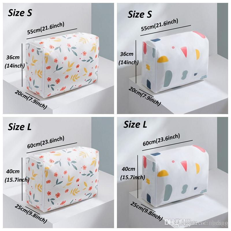 Fashion Print Quilt Storage Bag Closet Quilts Clothes Organizer Pouch Large Capacity Quilt Proof Dust Bag Waterproof Quilts Bags VT0950