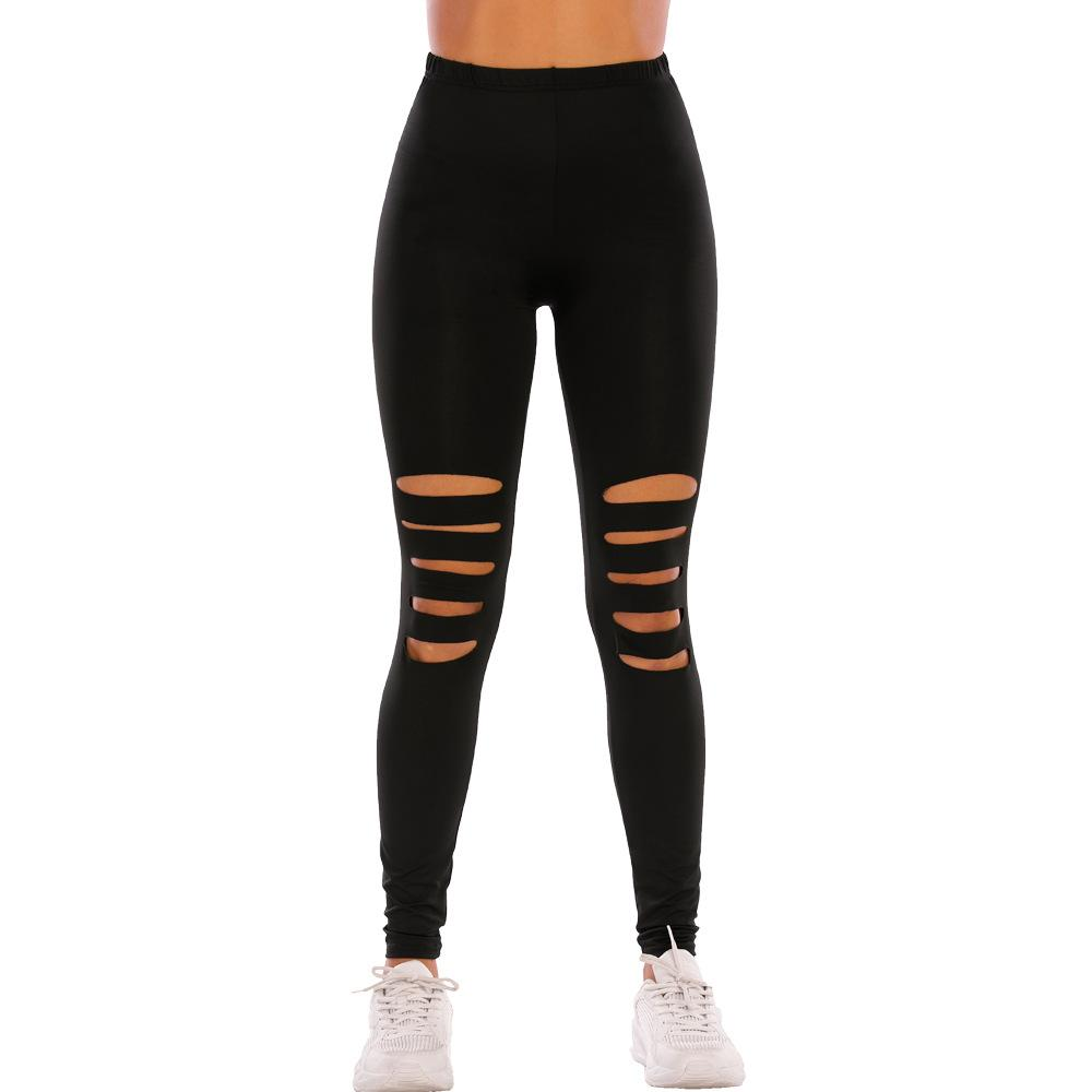 Sexy Adult Tight ripped yoga pants Women's Long Pants Fashion Fitness Leopard Gym Leggings