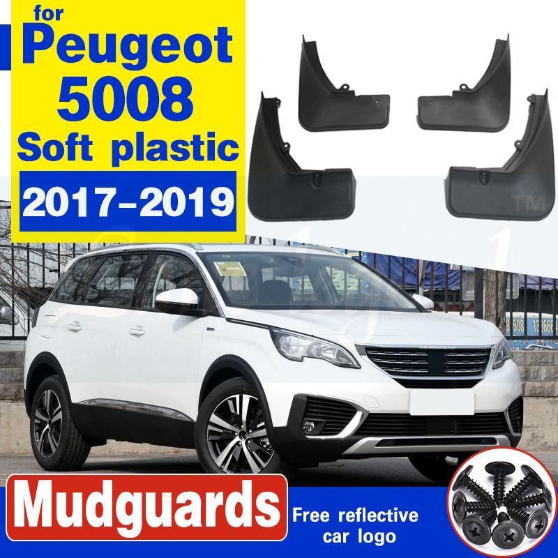 Pour Peugeot 5008 2017 2018 2019 Voiture boue Garde-boue Rabats Splash Guards bavettes pour Fender voiture avant Accessoires de roue arrière