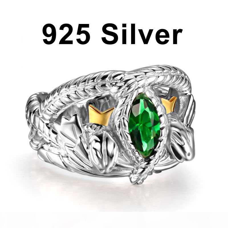 Il Signore degli Anelli argento 925 Aragorn Anello di Barahir LOTR anello nuziale regalo fan gioielli moda maschile di alta qualità Y1891908