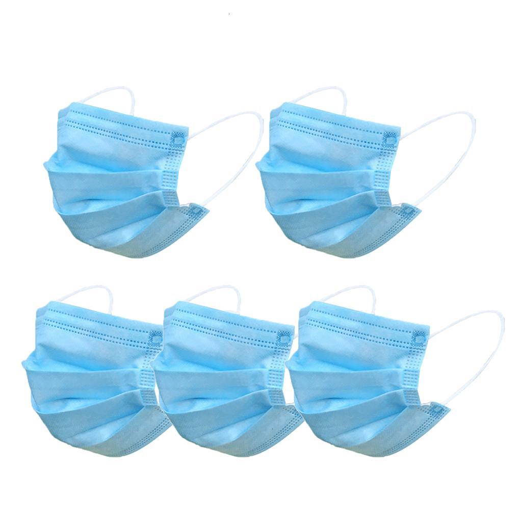 Máscaras de não-tecidos DHL frete grátis Boca descartável cara PM2.5 Anti Poluição Anti-pó Unisex Protecção Segurança Azul Rosa