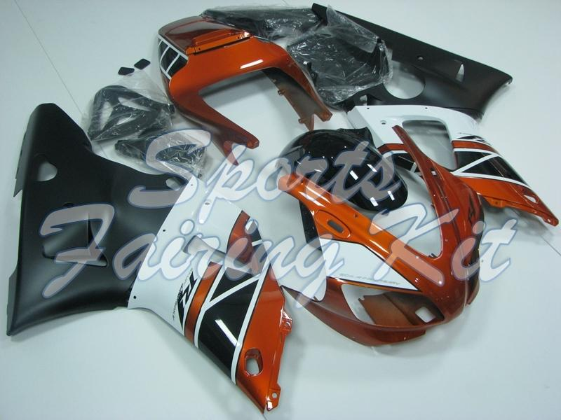Carenatura per YZF R1 2000 - 2001 Bianco Arancione Nero carenature YZF1000 R1 01 Carena Kit per YAMAHA YZFR1 01