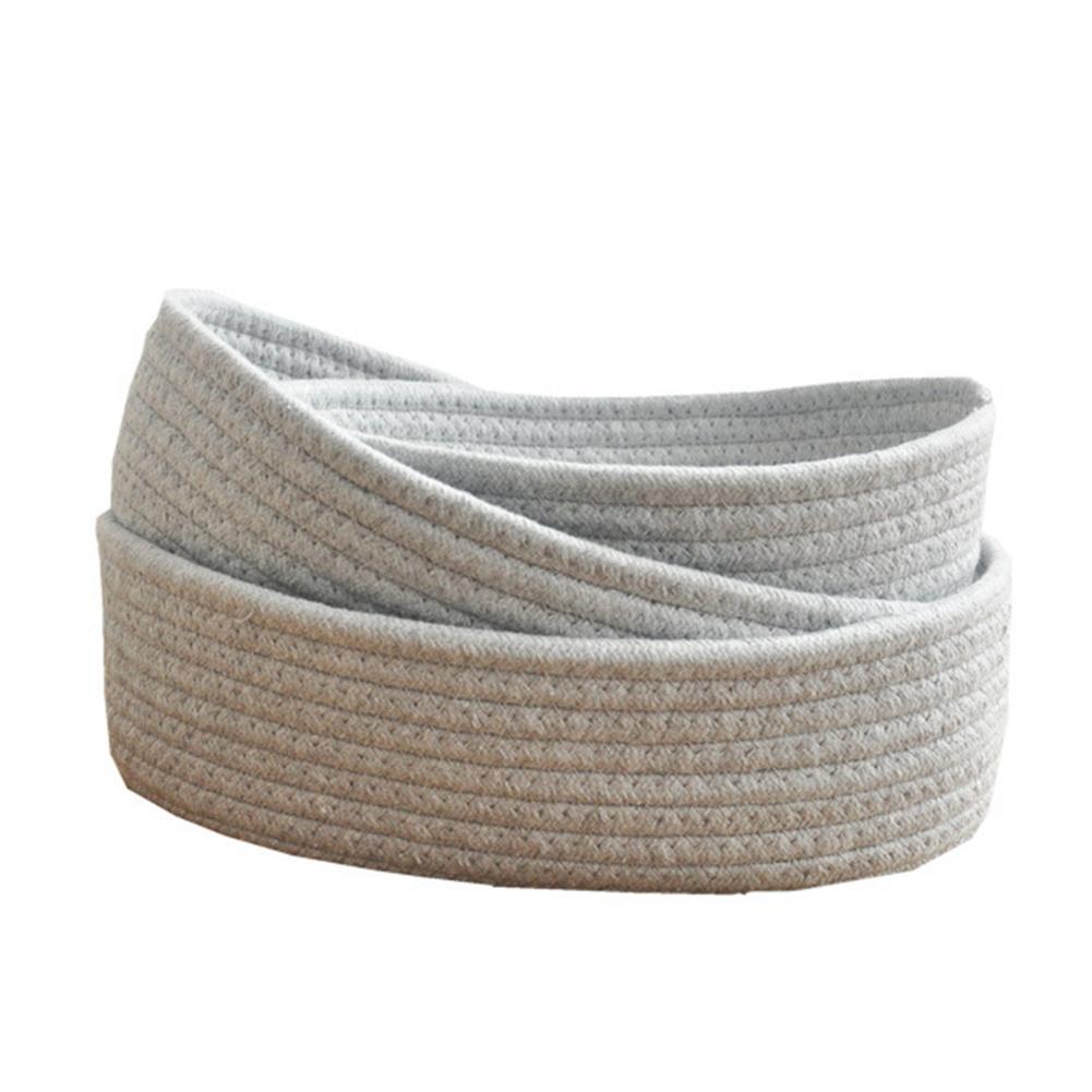 Miscela Woven Basket paniere della lavanderia bagagli a mano di lavoro a maglia Sundries morbido cotone