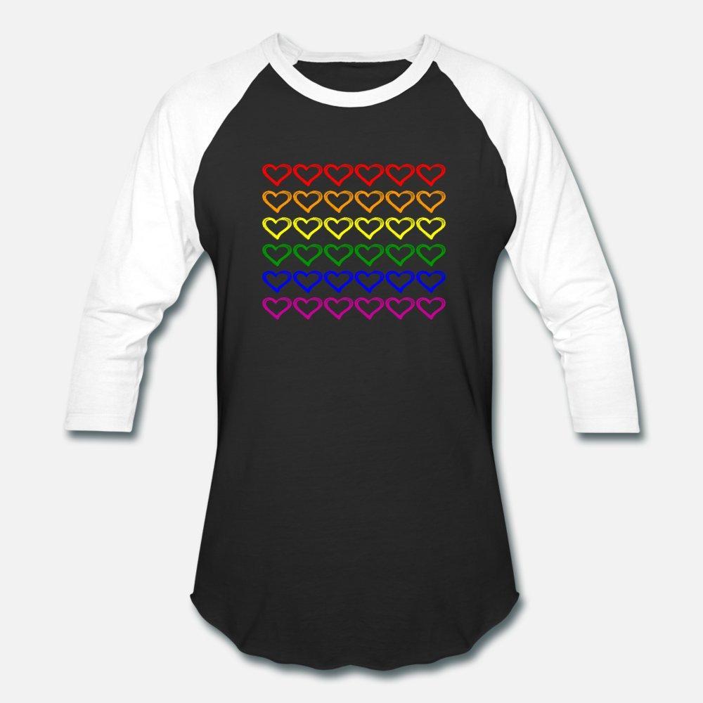 Lezbiyen Gay Pride t gömlek erkekler özelleştirme pamuk Mürettebat Boyun Normal Kırışıklık Karşıtı Yeni Moda Aile gömlek için Kalpler LGBT Gökkuşağı Hediye