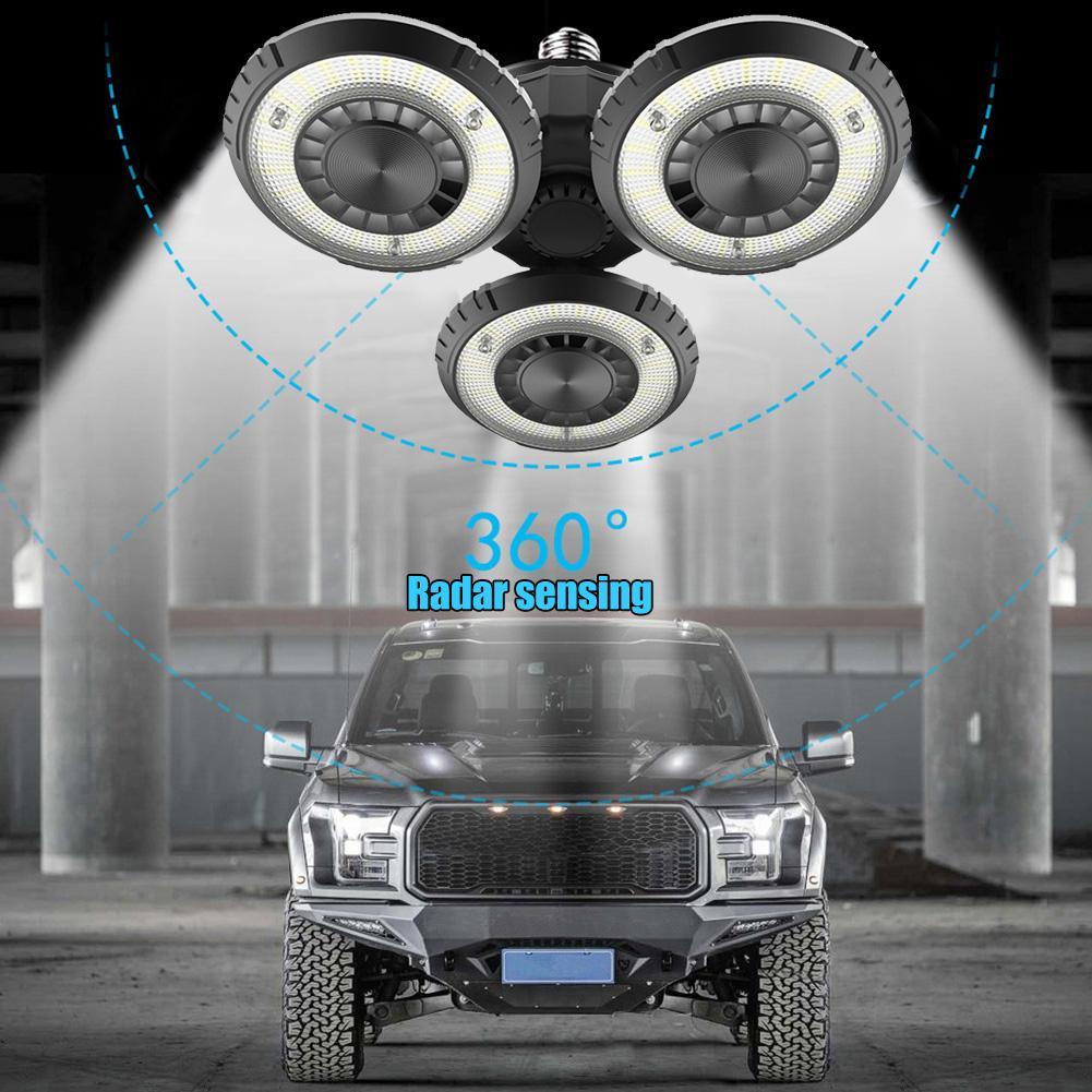 60W E27 LED deformáveis UFO teto Luz 85-265V AC SMD2835 LED Folding alta Bay Garagem Armazém Oficina Lamp Light Industrial