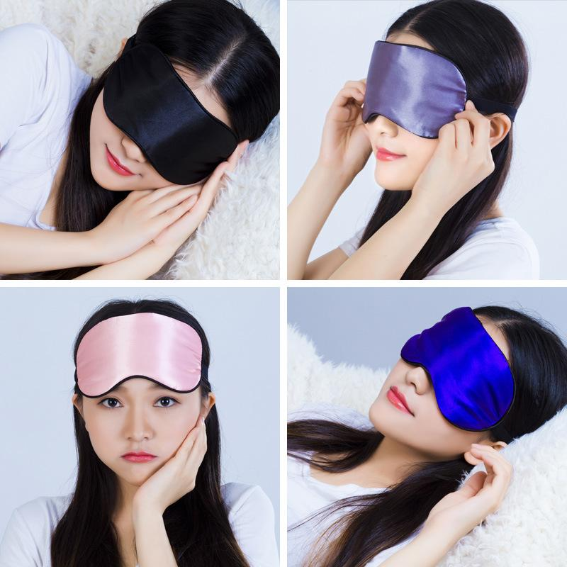 Silk Rest Cover Travel Hommes Masque Eye Mask Mask Shade Doucher Dormant Bandes Bandes Relax Sleep 1Pcs Femmes Eye BWLPP
